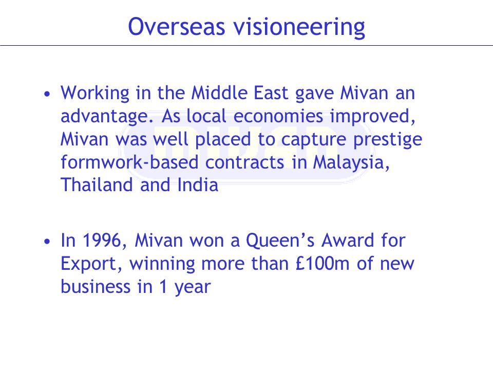 Overseas visioneering