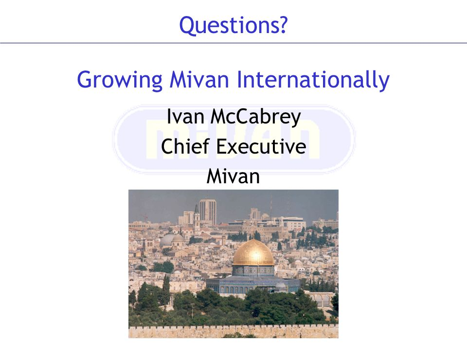 Ivan McCabrey Chief Executive Mivan