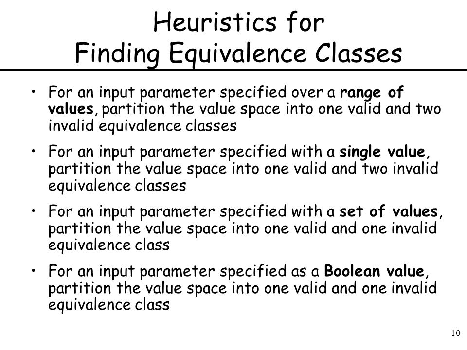 Heuristics for Finding Equivalence Classes