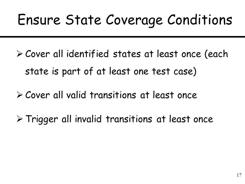 Ensure State Coverage Conditions