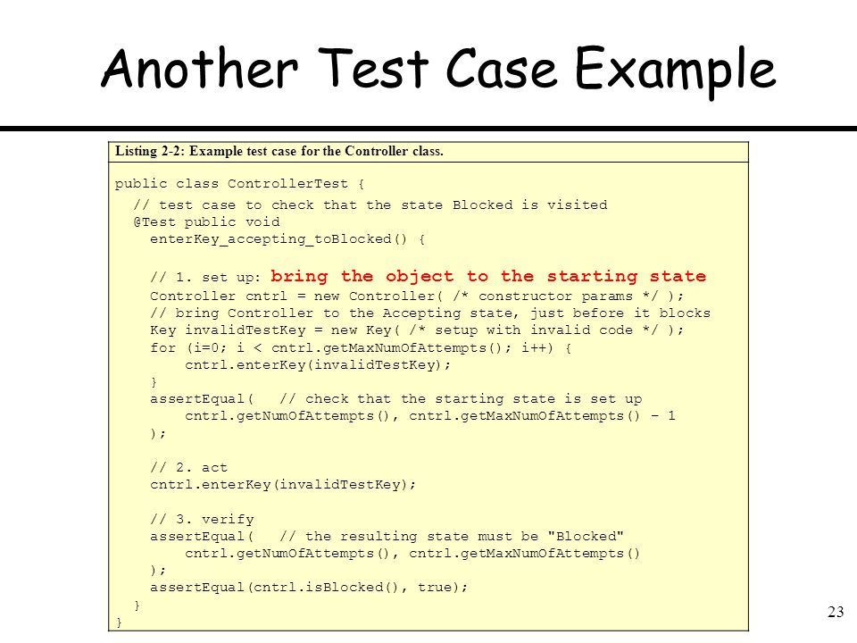 Another Test Case Example