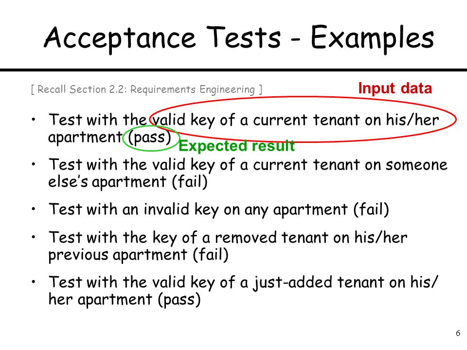 Acceptance Tests - Examples
