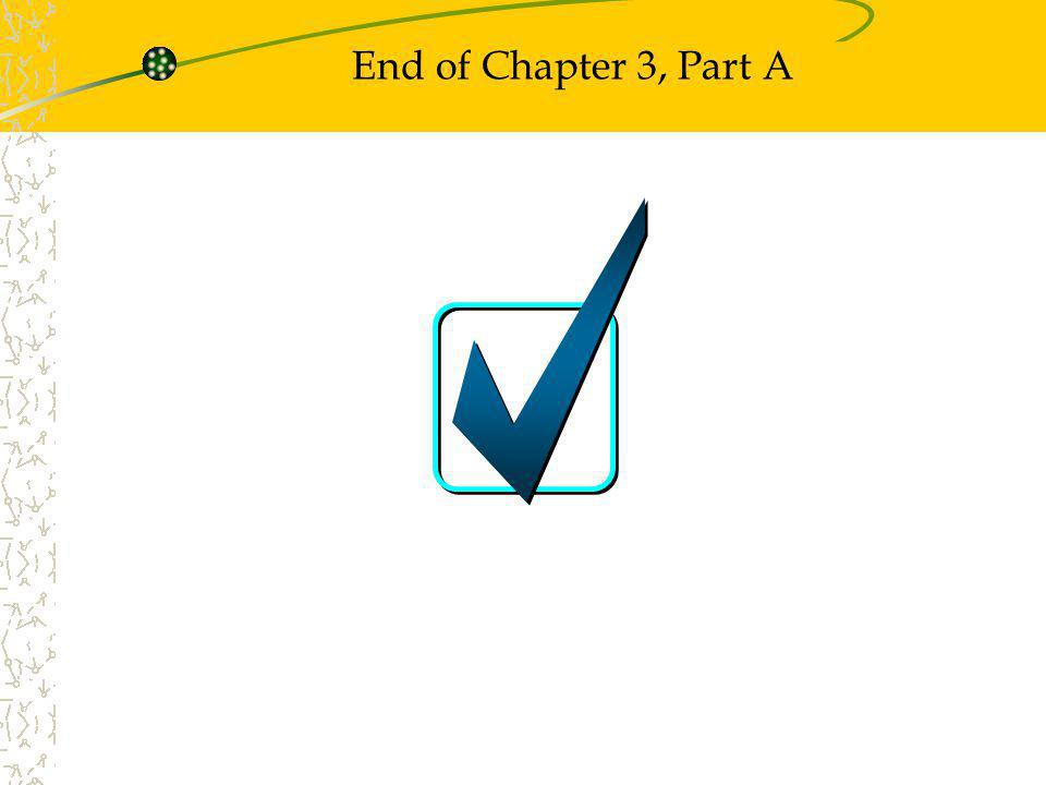 End of Chapter 3, Part A
