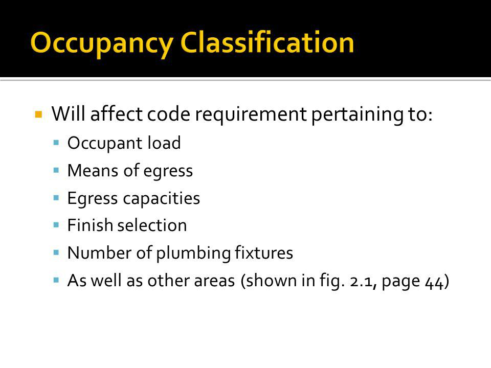 Occupancy Classification