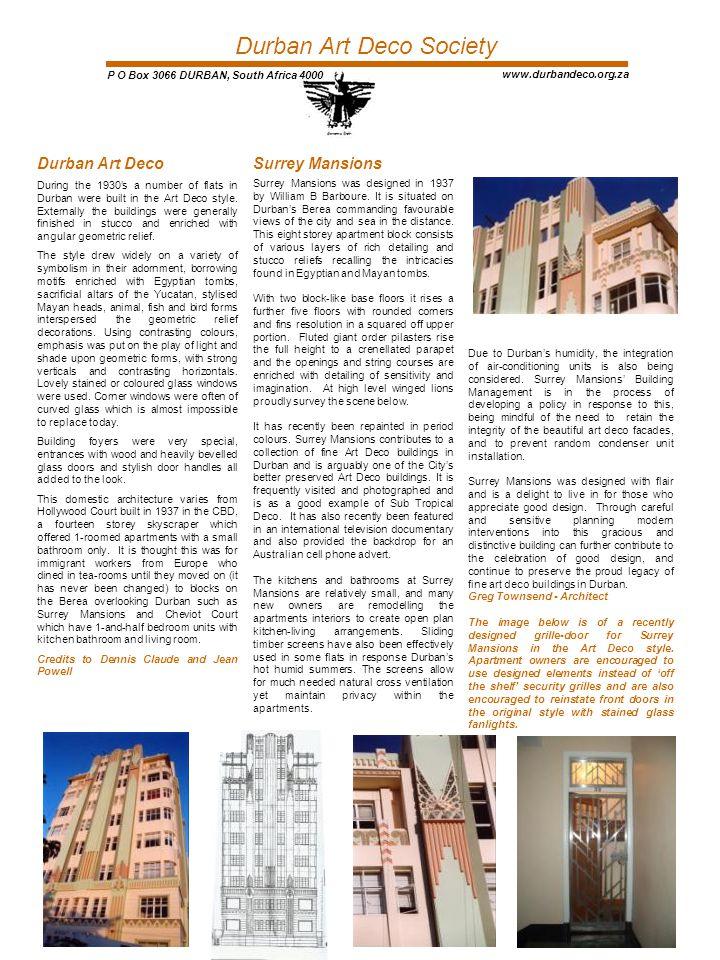 Durban Art Deco Society