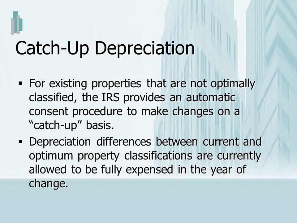 Catch-Up Depreciation