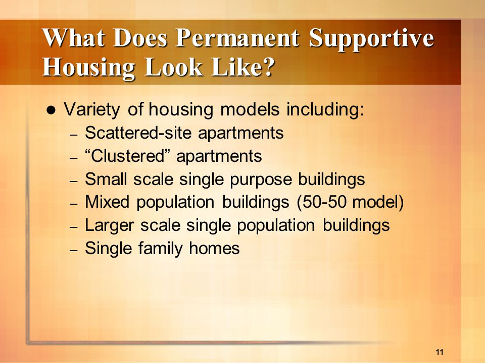 What Does Permanent Supportive Housing Look Like