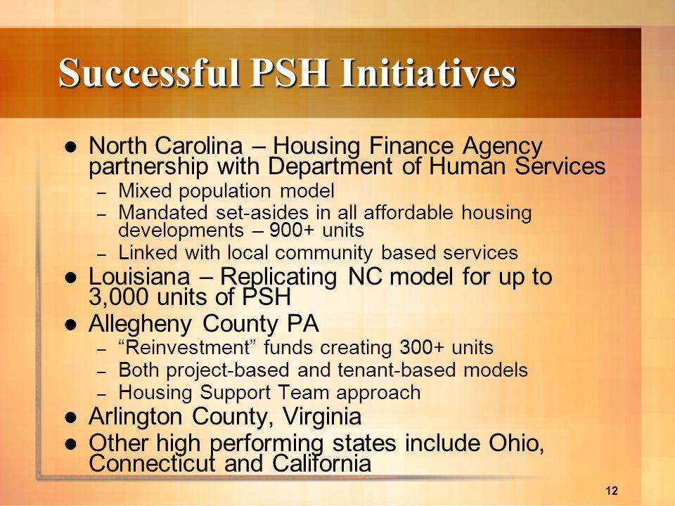 Successful PSH Initiatives