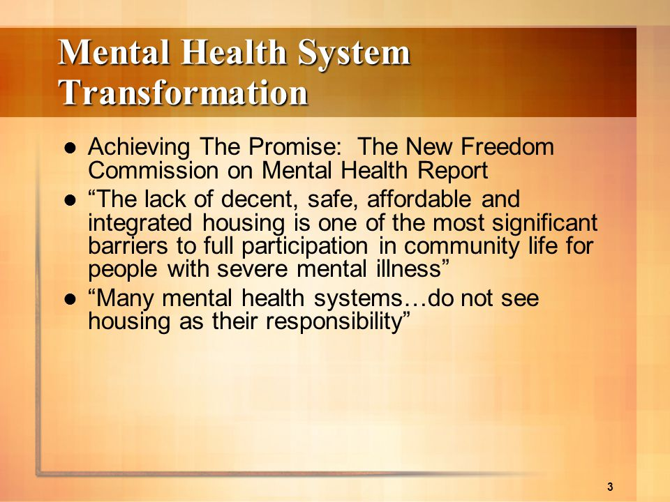 Mental Health System Transformation