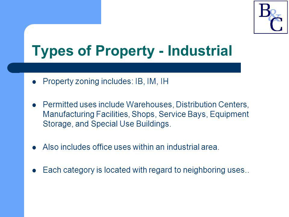 Types of Property - Industrial