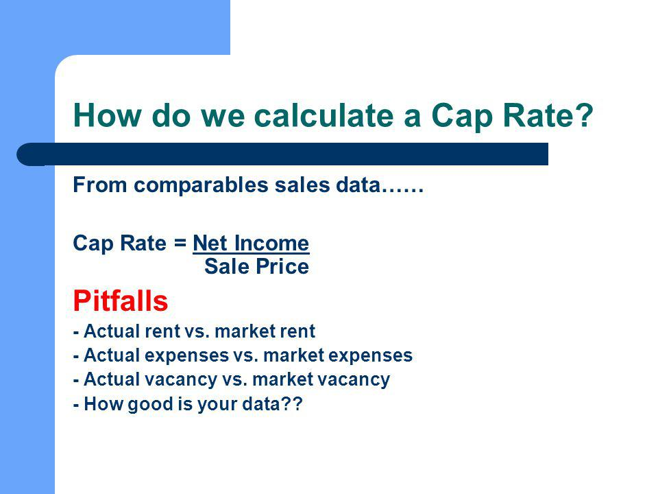 How do we calculate a Cap Rate