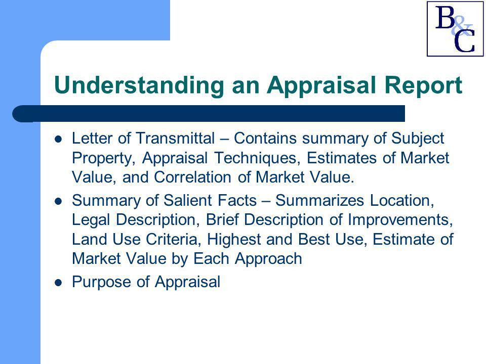 Understanding an Appraisal Report
