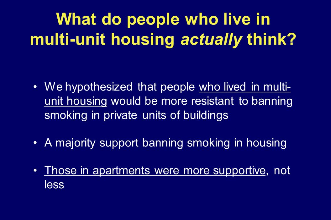 What do people who live in multi-unit housing actually think