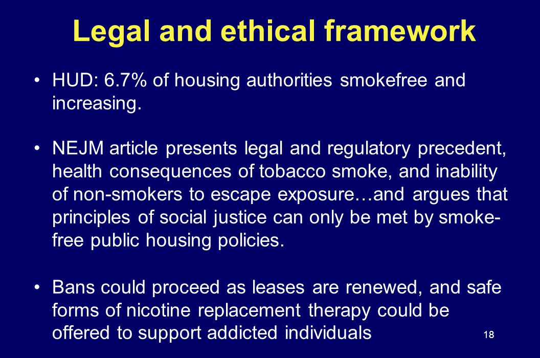 Legal and ethical framework