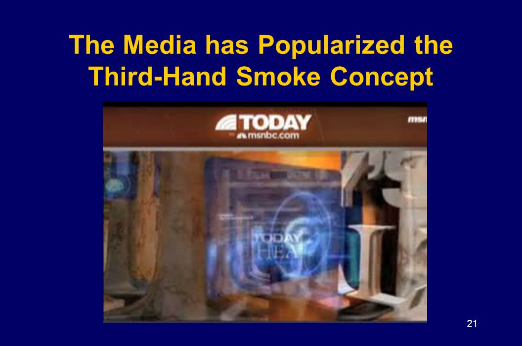 The Media has Popularized the Third-Hand Smoke Concept