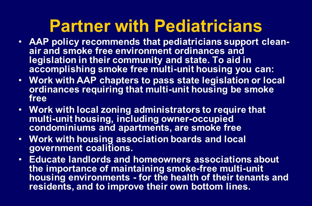 Partner with Pediatricians