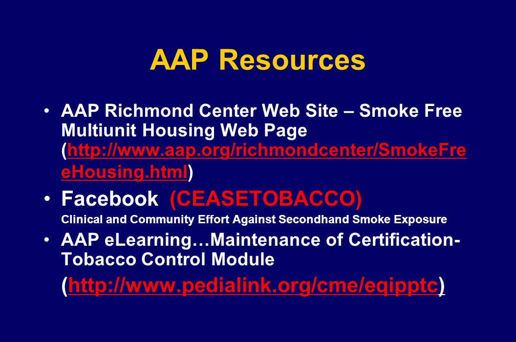 AAP Resources Facebook (CEASETOBACCO)