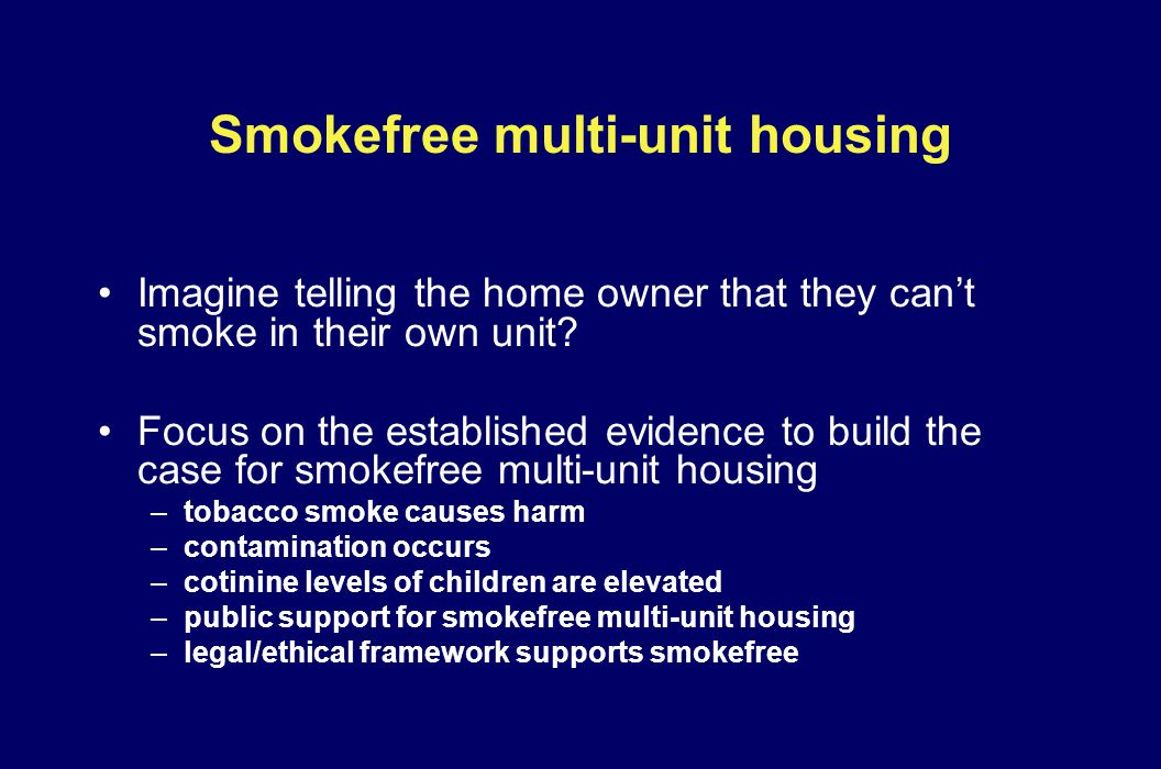 Smokefree multi-unit housing