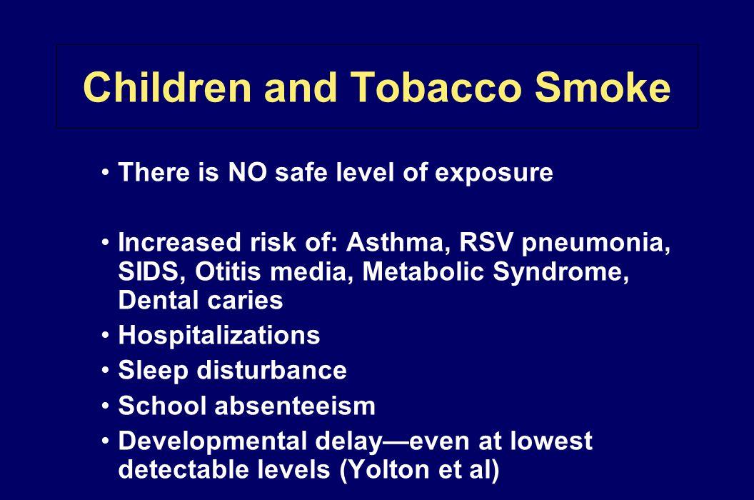 Children and Tobacco Smoke