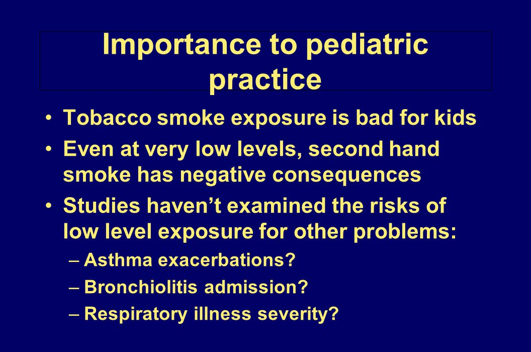 Importance to pediatric practice