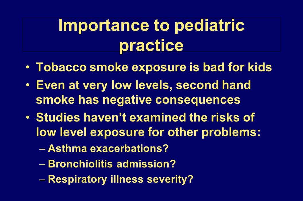 Importance to pediatric practice