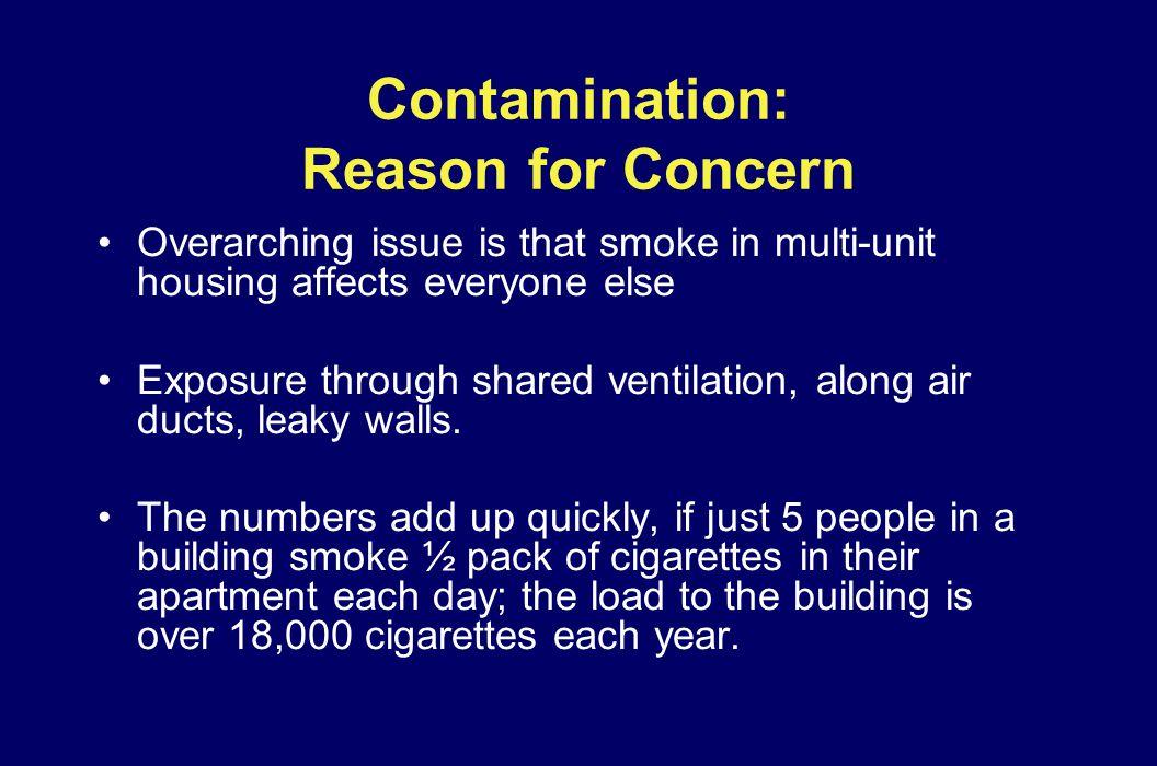 Contamination: Reason for Concern