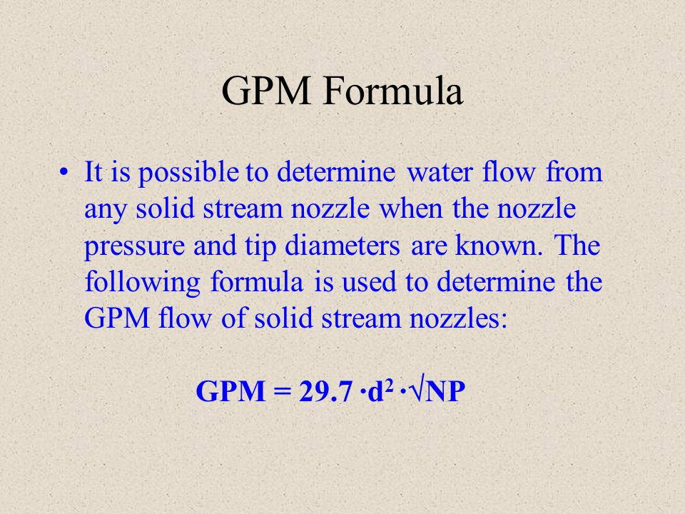 GPM Formula