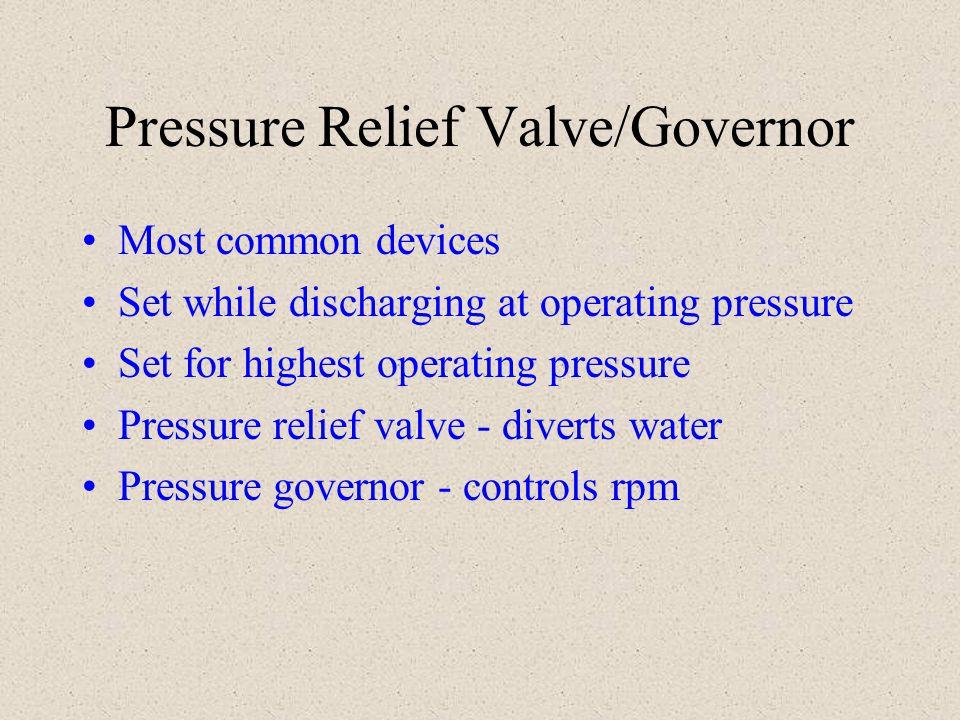 Pressure Relief Valve/Governor