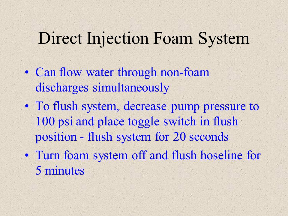 Direct Injection Foam System