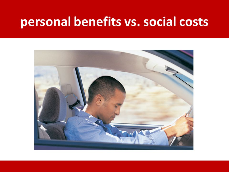 personal benefits vs. social costs