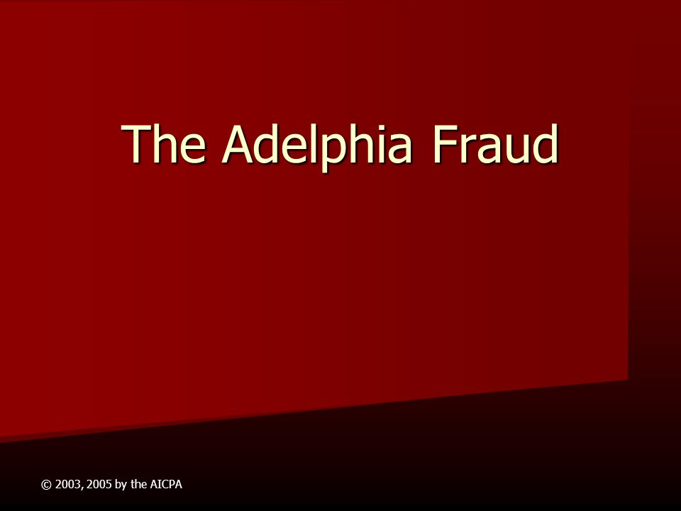 the adelphia communications scandal History of adelphia communications corp the largest cable operator in western new york and one of the largest in the united states, adelphia communications corp owns, manages, and operates cable television systems in mid-sized markets and suburban areas where non-cable reception is weak during.