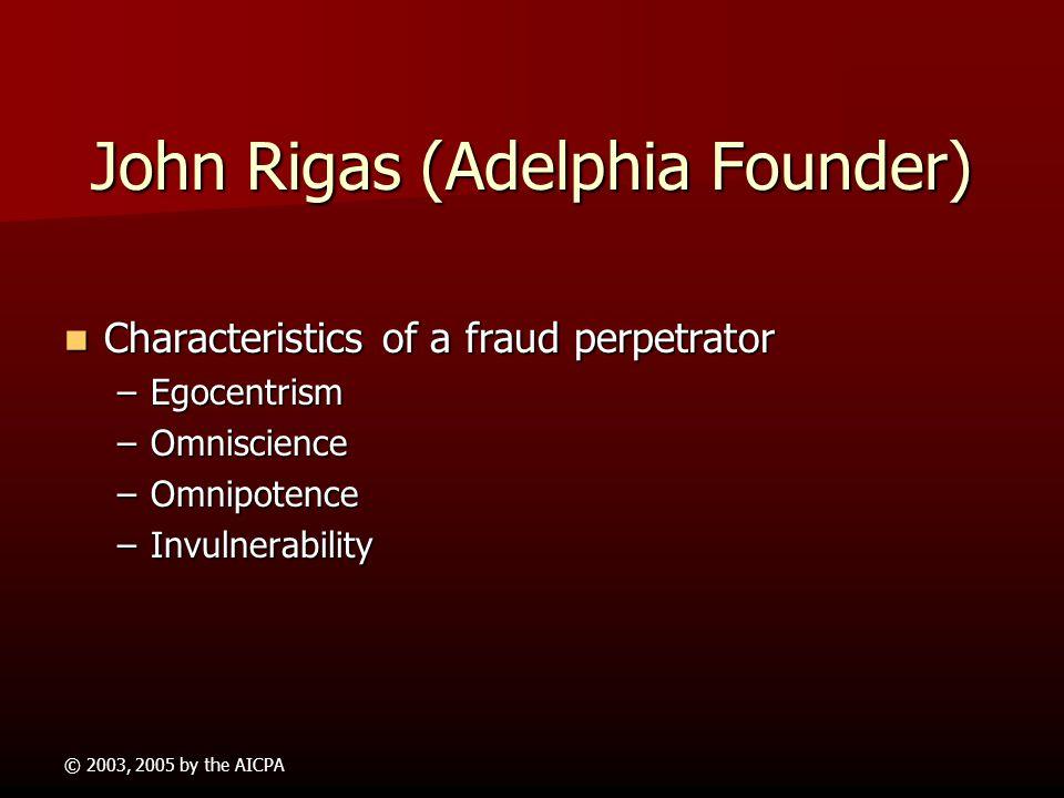 John Rigas (Adelphia Founder)