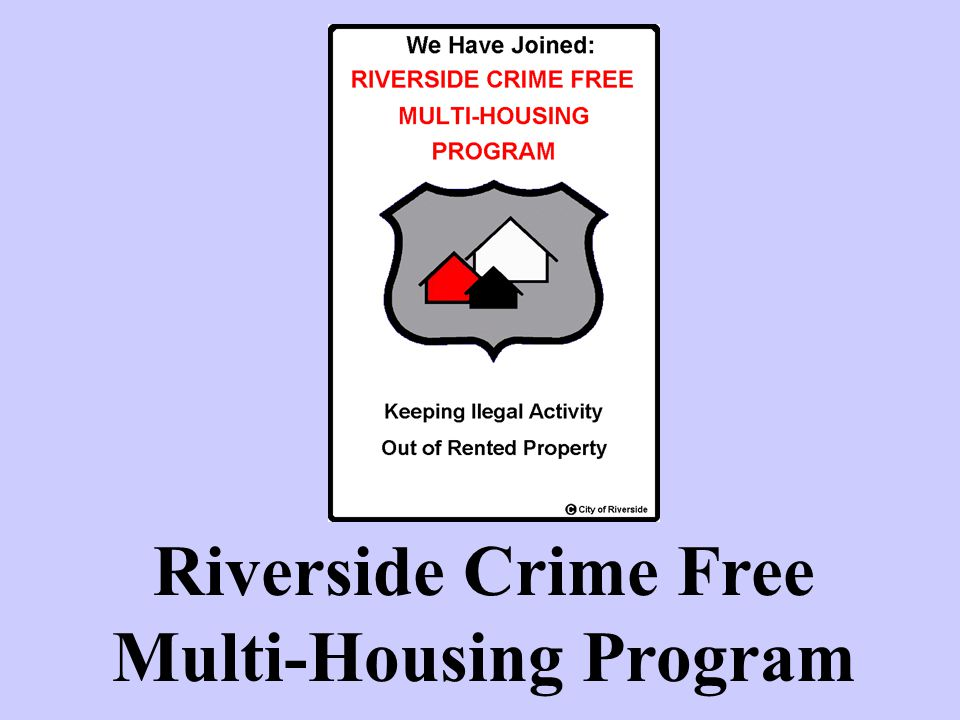 Riverside Crime Free Multi-Housing Program