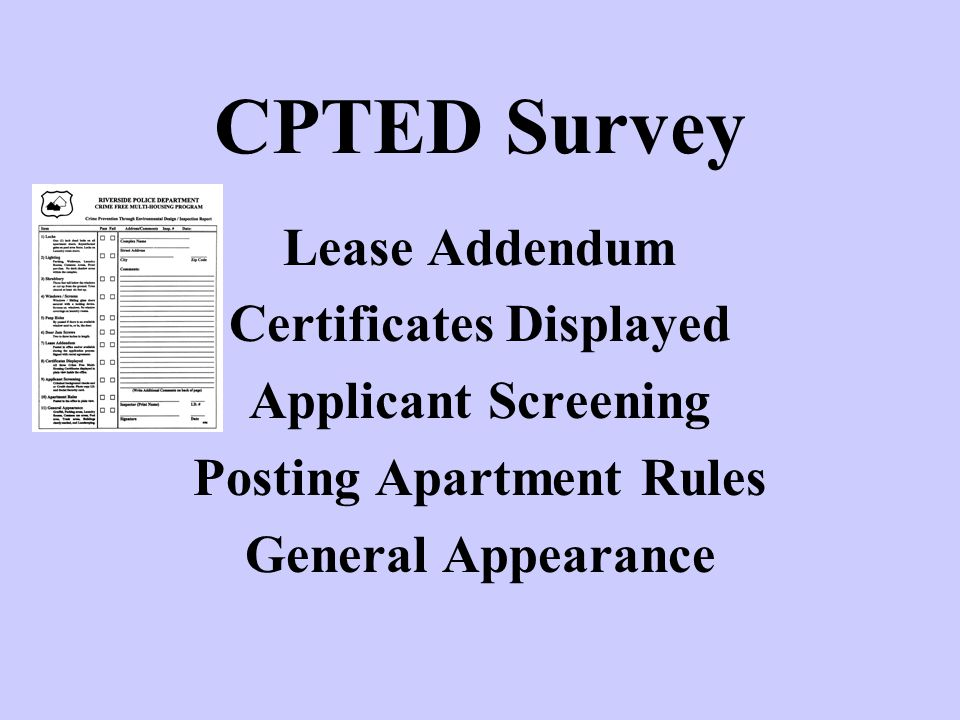 Certificates Displayed Posting Apartment Rules