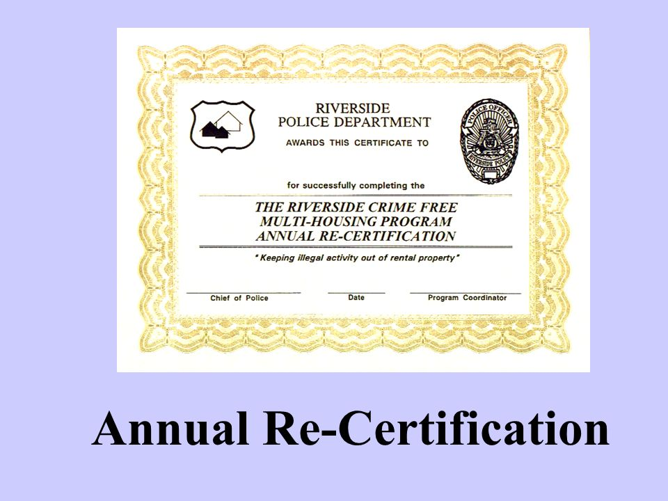 Annual Re-Certification
