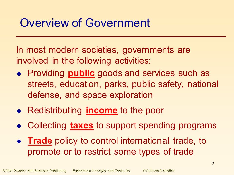 Overview of Government
