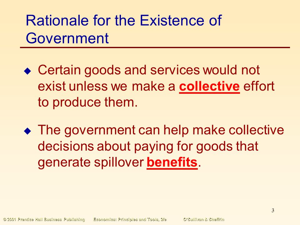 Rationale for the Existence of Government