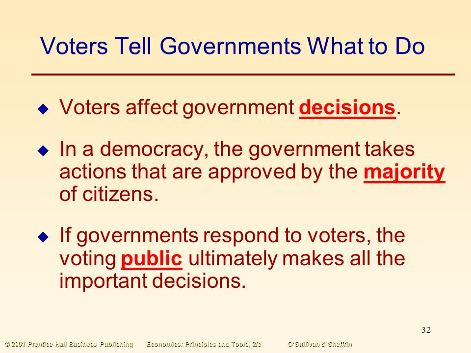 Voters Tell Governments What to Do