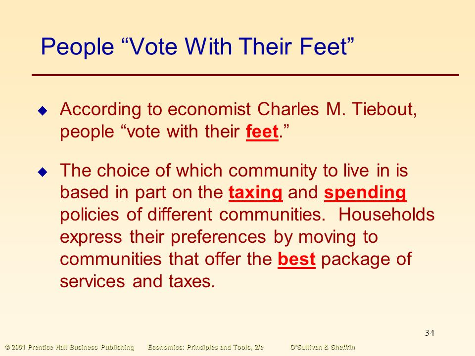 People Vote With Their Feet