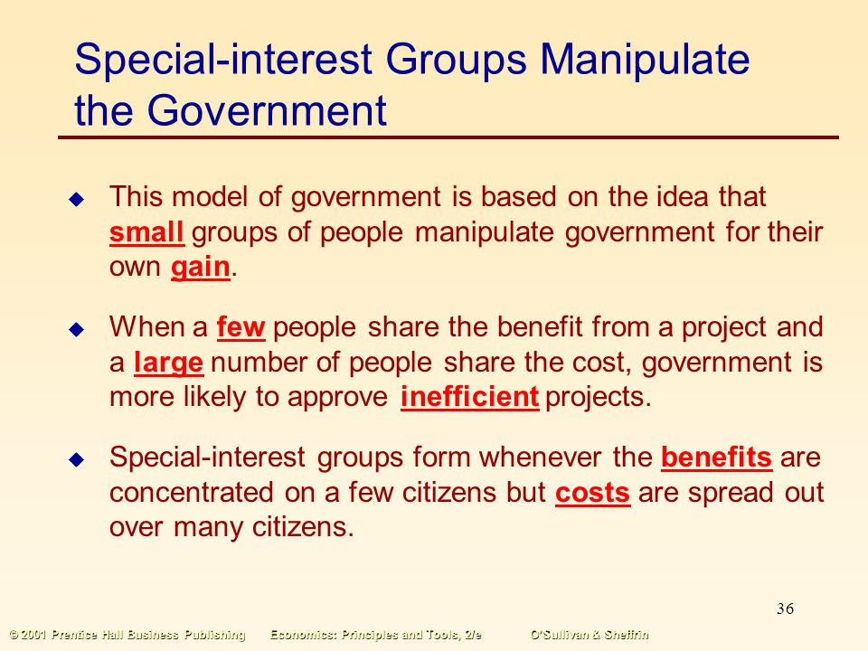 Special-interest Groups Manipulate the Government