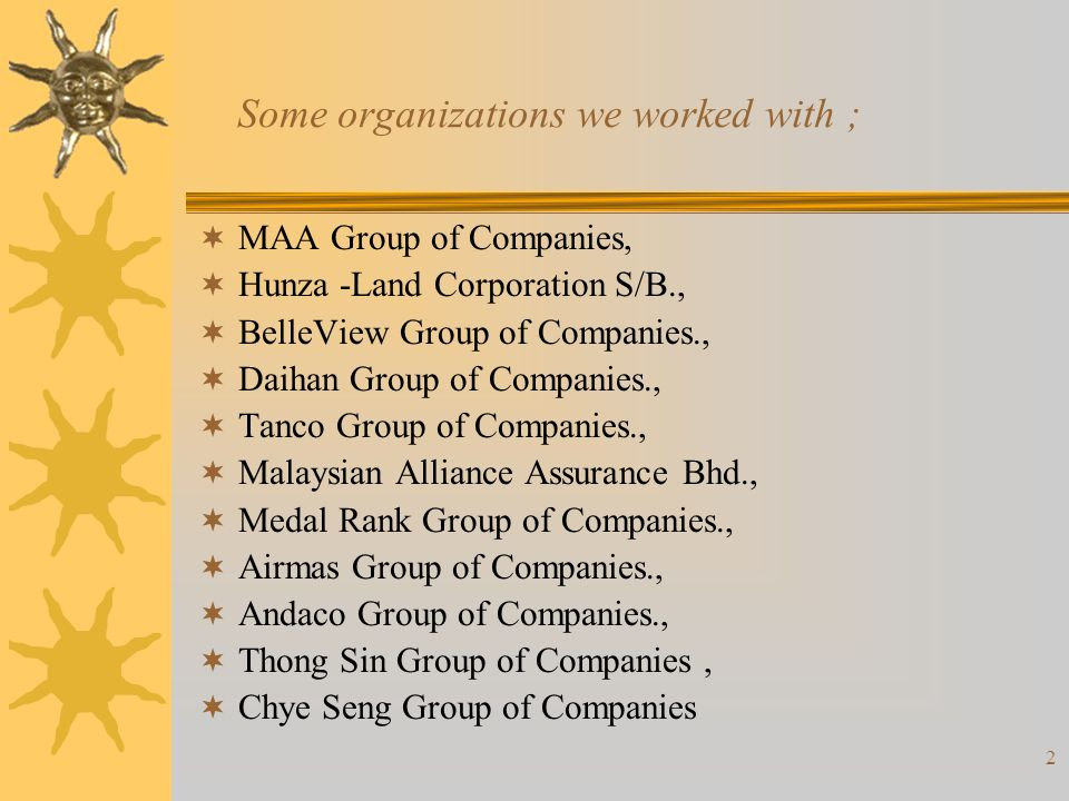 Some organizations we worked with ;