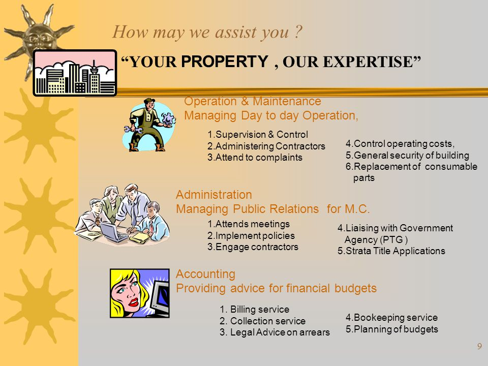 How may we assist you YOUR PROPERTY , OUR EXPERTISE