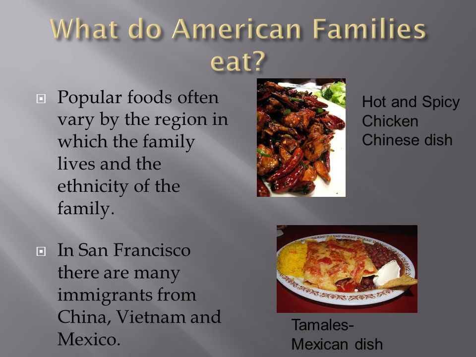 What do American Families eat
