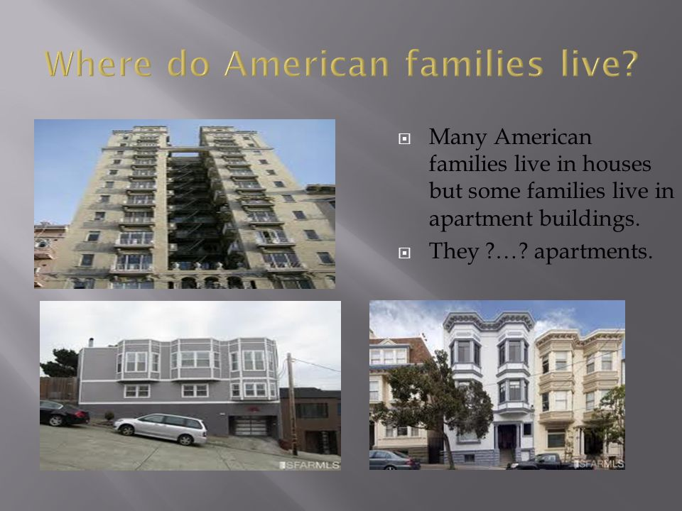 Where do American families live
