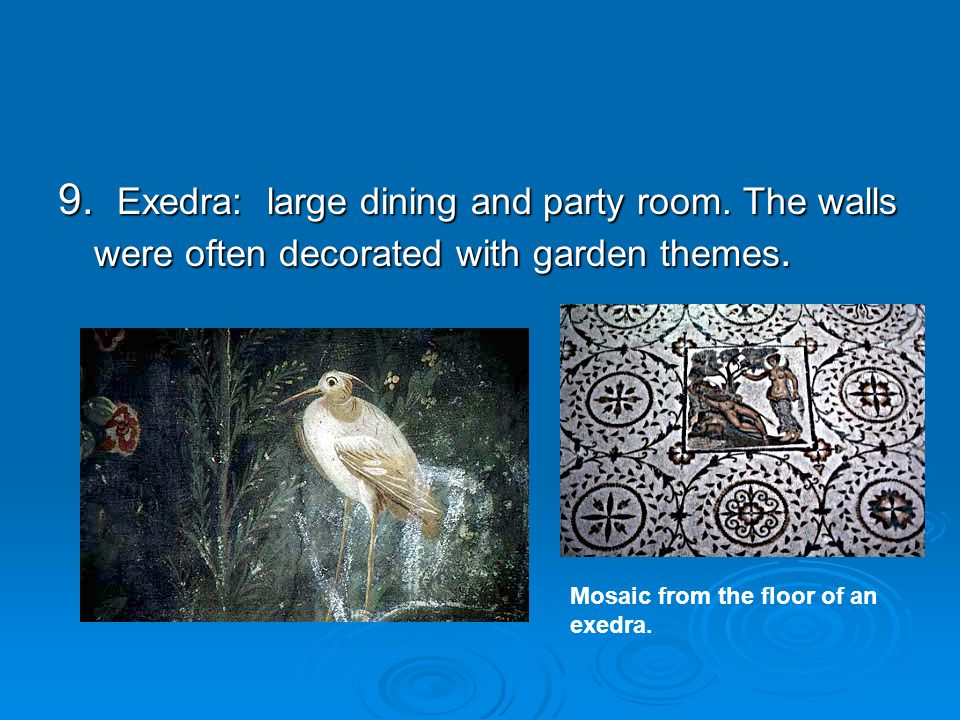 9. Exedra: large dining and party room