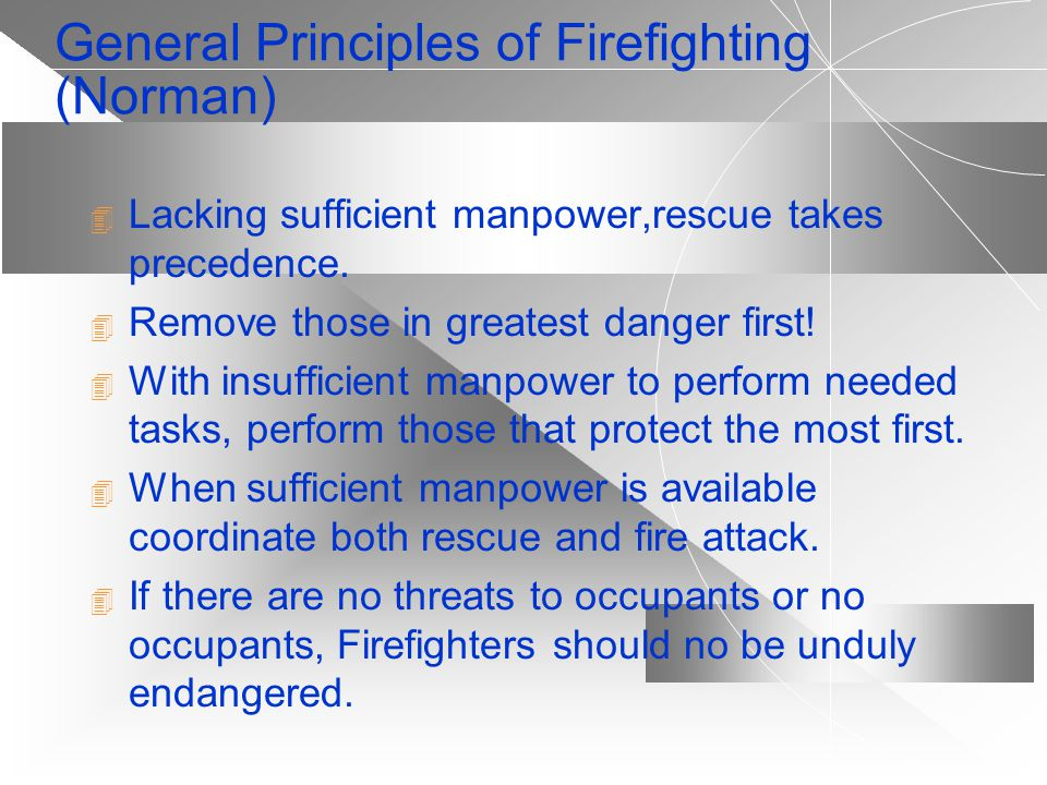 General Principles of Firefighting (Norman)