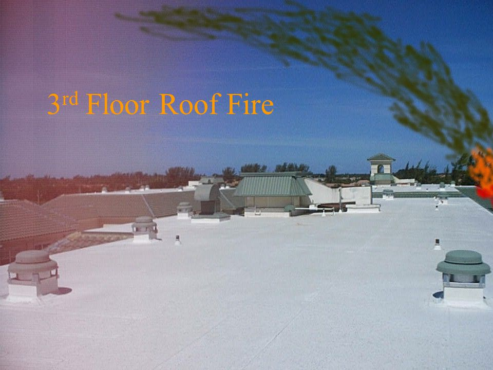 3rd Floor Roof Fire