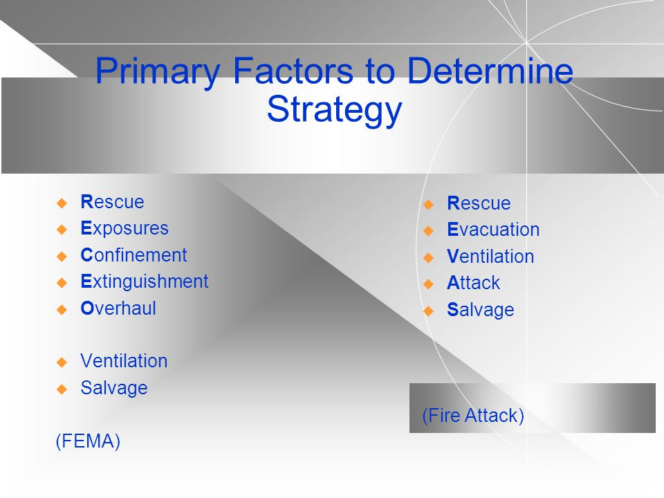 Primary Factors to Determine Strategy