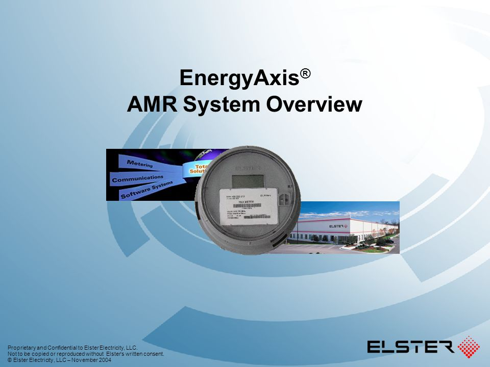 EnergyAxis® AMR System Overview