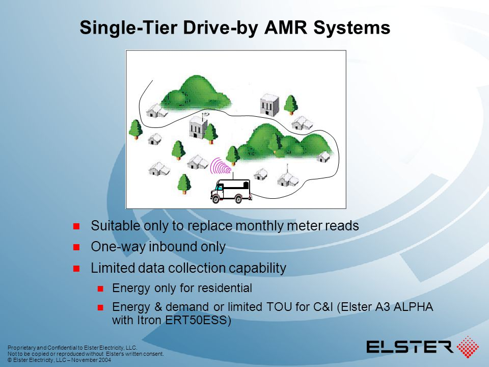 Single-Tier Drive-by AMR Systems
